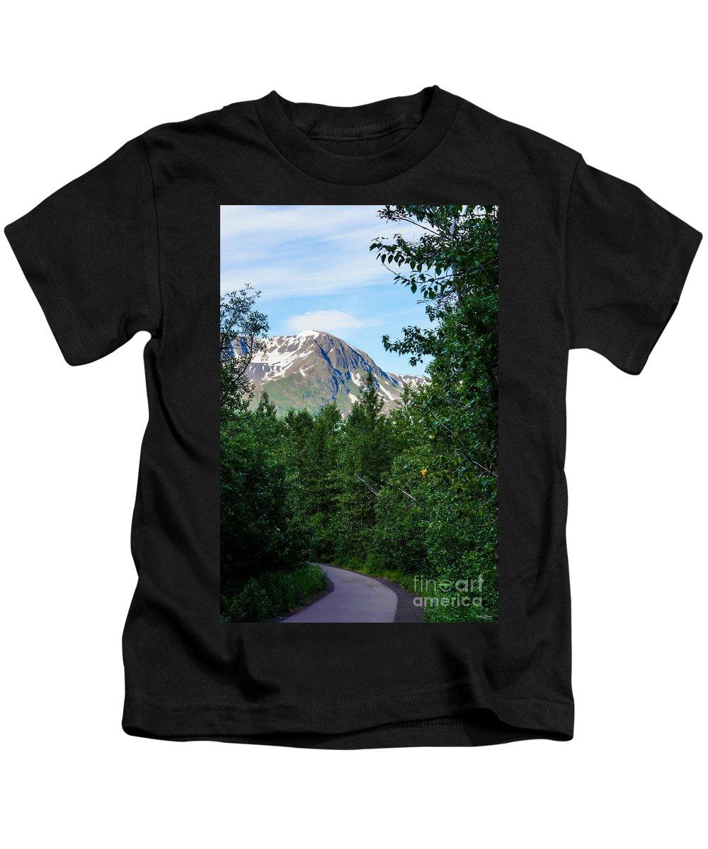 Alaska Kids T-Shirt featuring the photograph Path Through Nature by Jennifer White