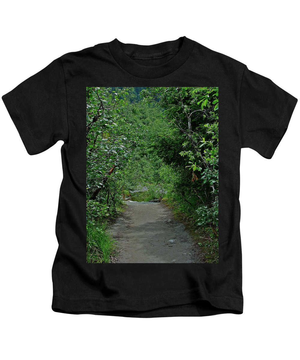 Path Kids T-Shirt featuring the photograph Path To Adventure by Diana Hatcher