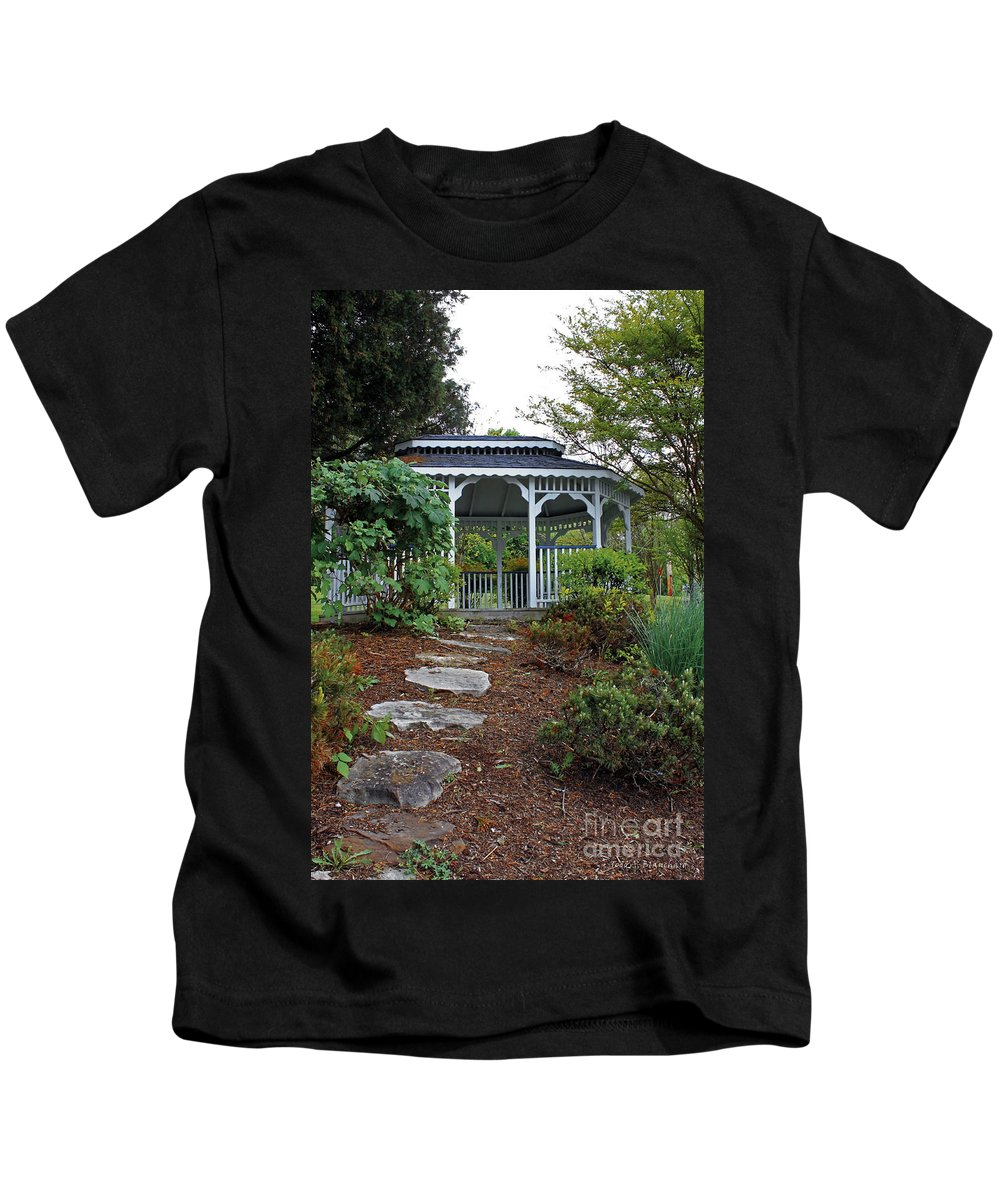 Landscape Kids T-Shirt featuring the photograph Path To The Gazebo by Todd Blanchard