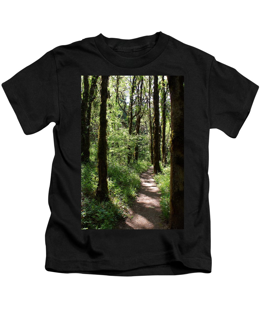 Nature Kids T-Shirt featuring the photograph Pathway Through The Woods by Ben Upham III