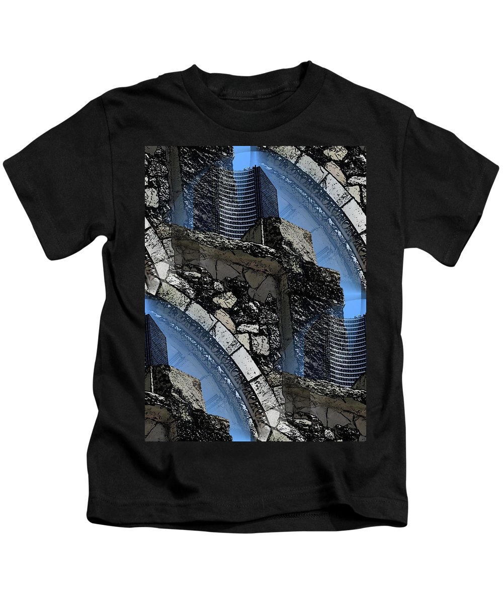 Pathway Kids T-Shirt featuring the digital art Pathway To Present by Tim Allen