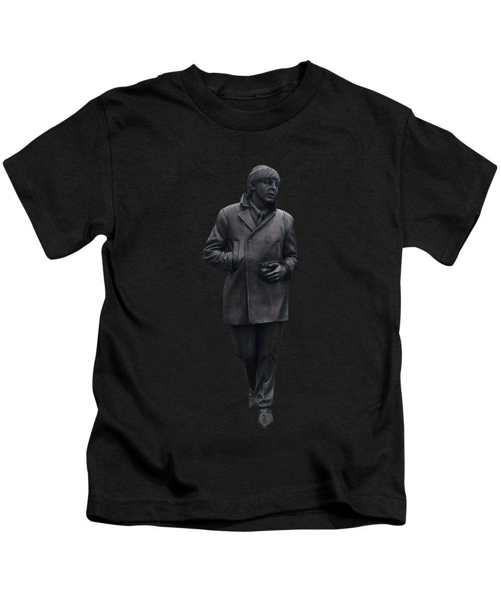 Paul Mccartney Kids T-Shirt featuring the mixed media Paul Mccartney by Movie Poster Prints