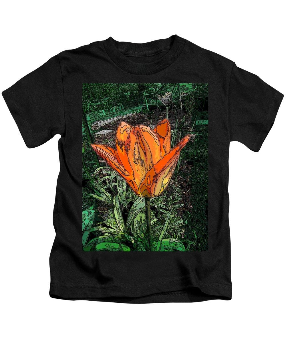 Flower Kids T-Shirt featuring the digital art Pea Patch Pretty by Tim Allen