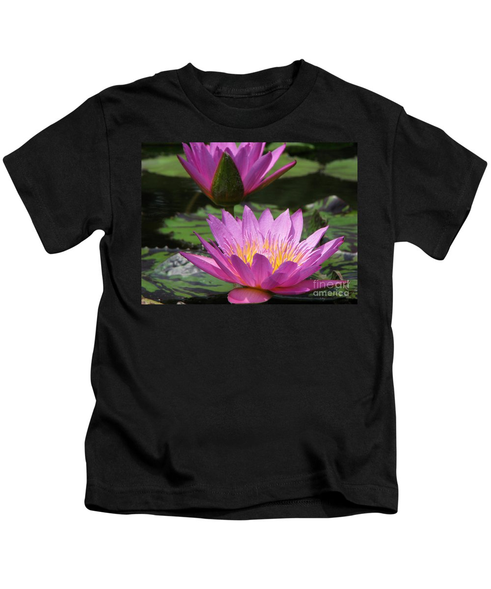 Lillypad Kids T-Shirt featuring the photograph Peaceful by Amanda Barcon