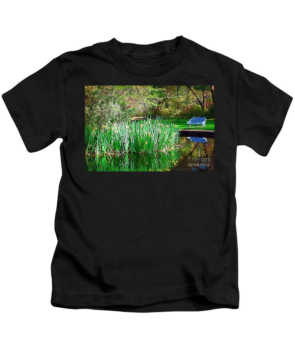Pond Kids T-Shirt featuring the photograph Peaceful by Donna Bentley