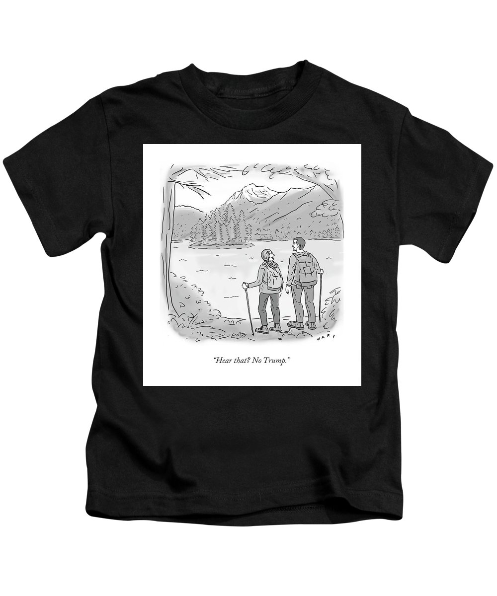 c9869a0d4e2bf Peaceful Hikers Kids T-Shirt for Sale by Kim Warp