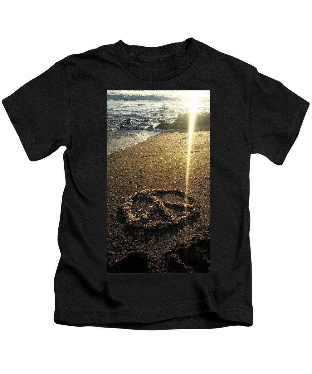 Sunrise Kids T-Shirt featuring the digital art Peaceful Sunrise by Jim Ferro