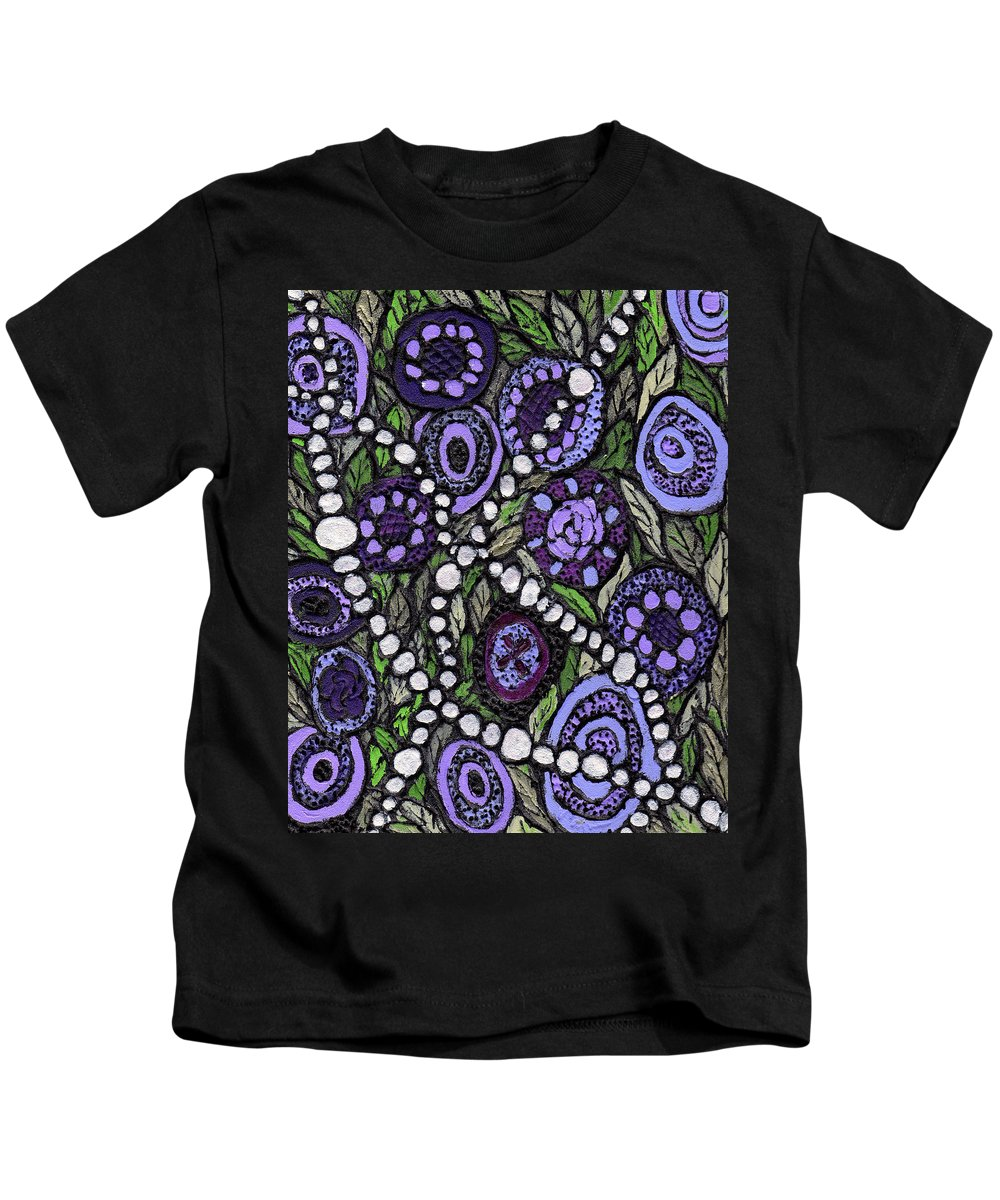 Abstract Kids T-Shirt featuring the painting Pearls In The Garden by Wayne Potrafka