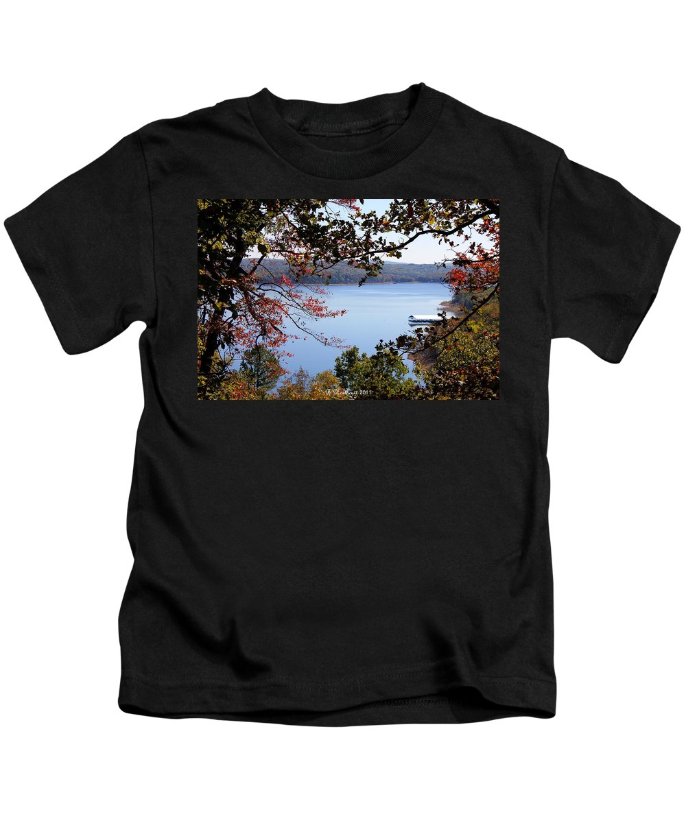 Beaver Lake Kids T-Shirt featuring the photograph Peek-a-view by Betty Northcutt