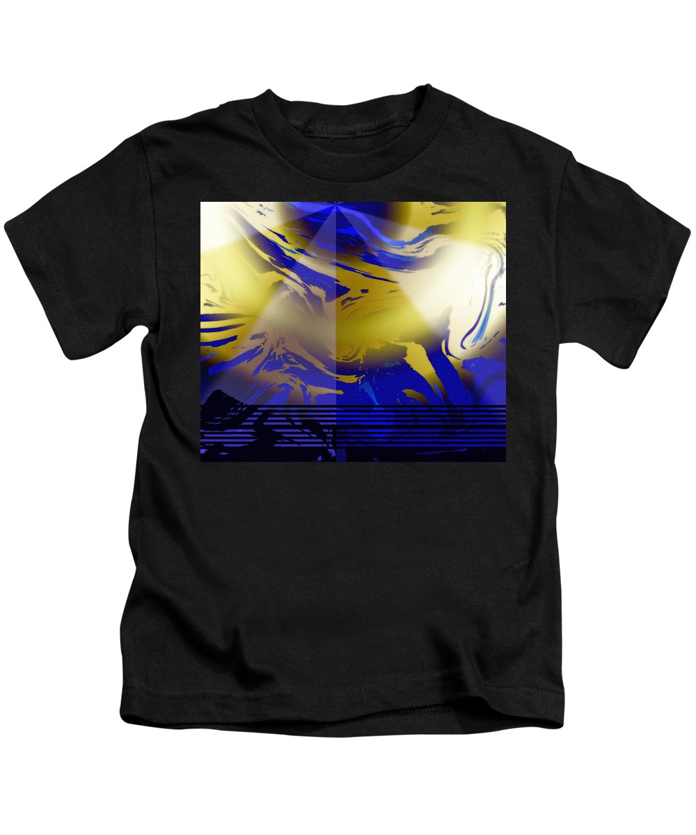 Abstract Kids T-Shirt featuring the digital art Pegasus From Above by Ian MacDonald
