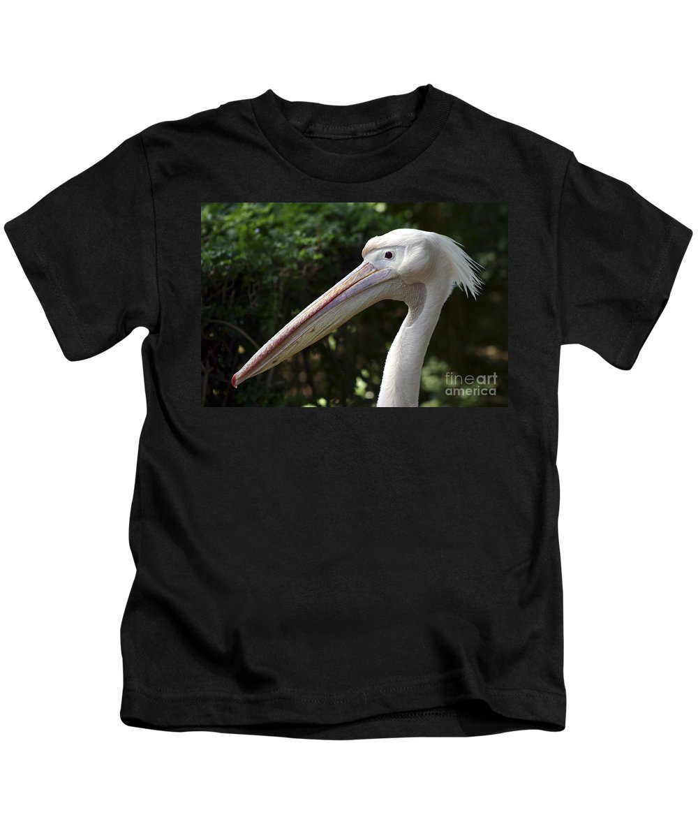 Close Up Kids T-Shirt featuring the photograph Pelican by Danny Yanai