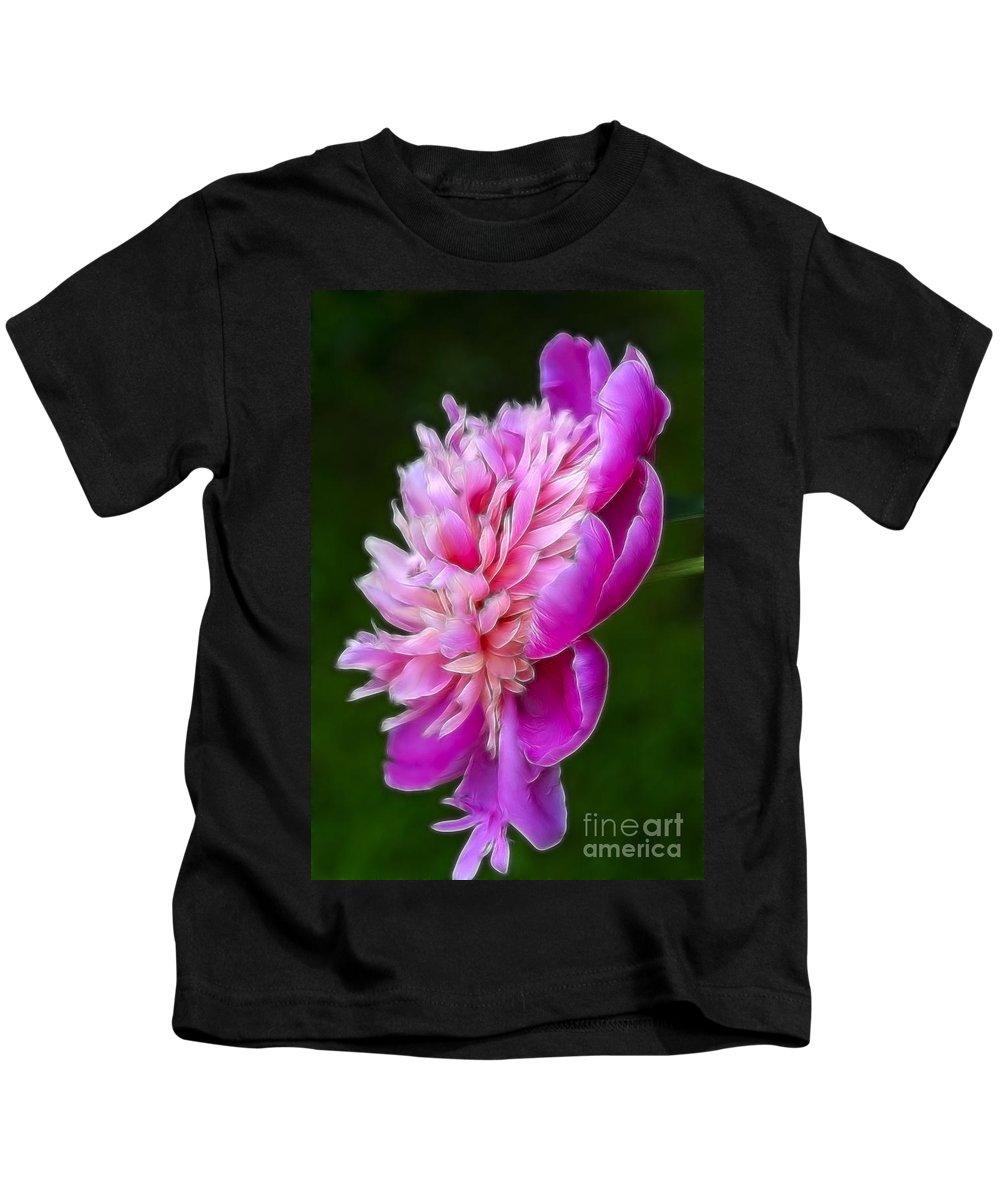 Flower Kids T-Shirt featuring the photograph Peonie Debut by Deborah Benoit
