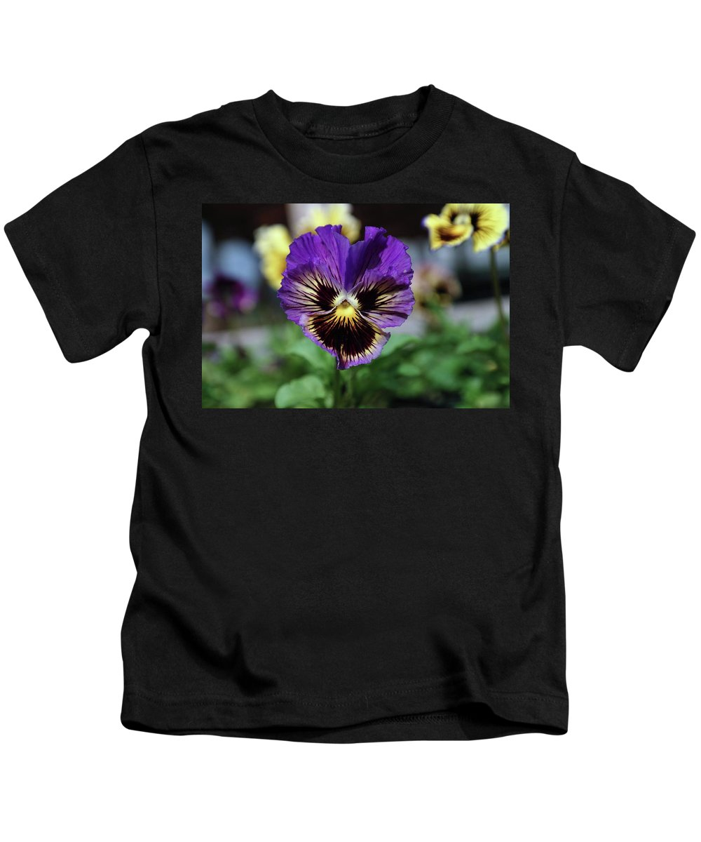 Floral Kids T-Shirt featuring the photograph Perfect Pansy by Jeff Swan