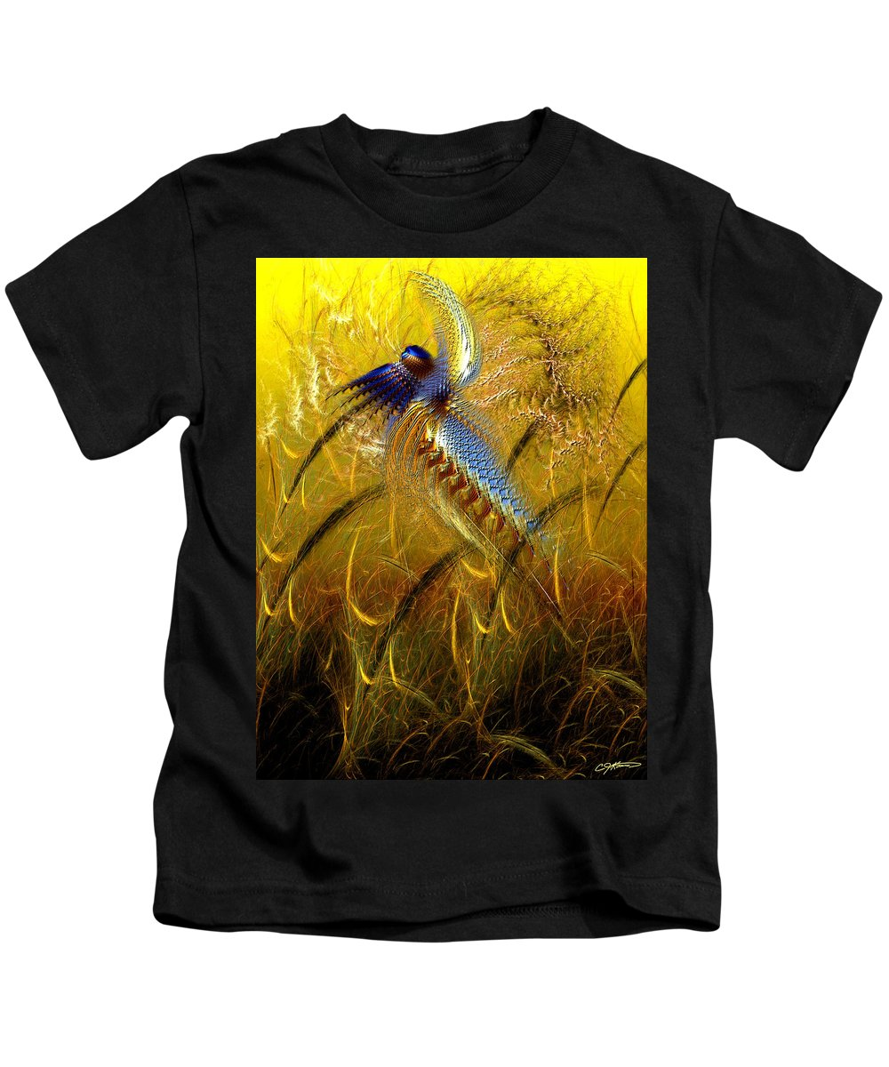 Abstract Kids T-Shirt featuring the digital art Perils Of Genetic Engineering by Casey Kotas