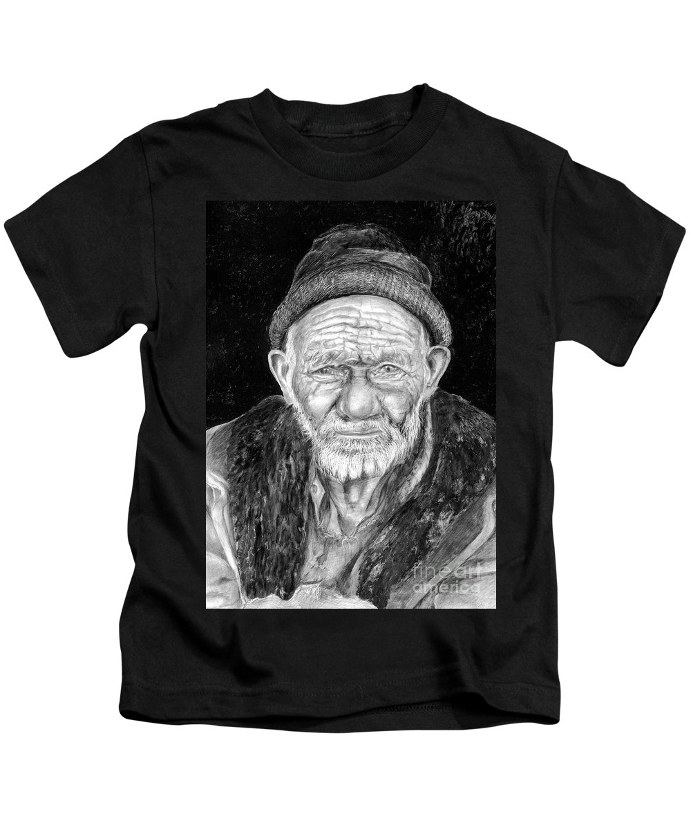 Figurative Painting Kids T-Shirt featuring the painting Perserverance by Portraits By NC