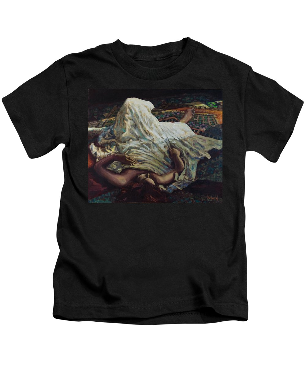 Figurative Kids T-Shirt featuring the painting Persian Rugs by Rick Nederlof
