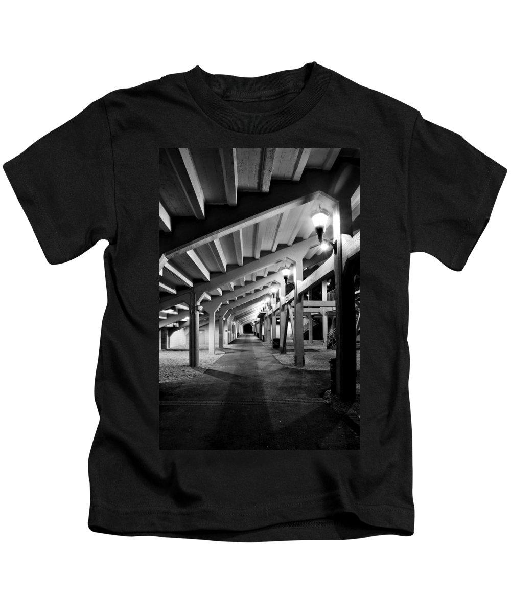 Tunnel Kids T-Shirt featuring the photograph Perspective V by Greg Fortier
