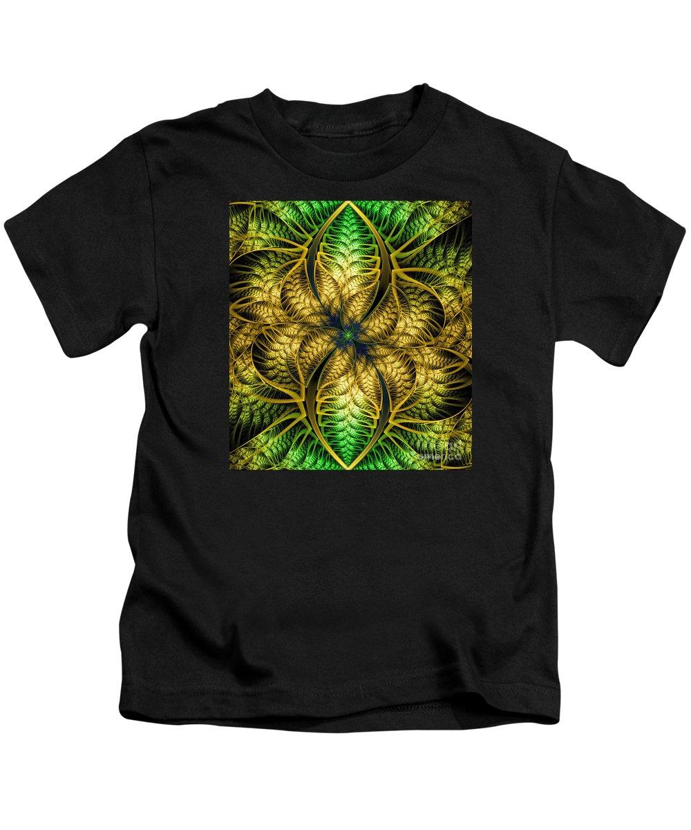 Digital Kids T-Shirt featuring the digital art Petals Of Life by Deborah Benoit