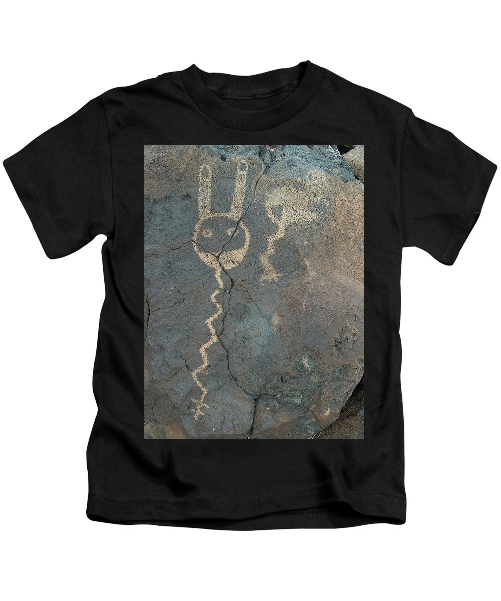 Petroglyph Kids T-Shirt featuring the photograph Petroglyph Series 1 by Tim McCarthy