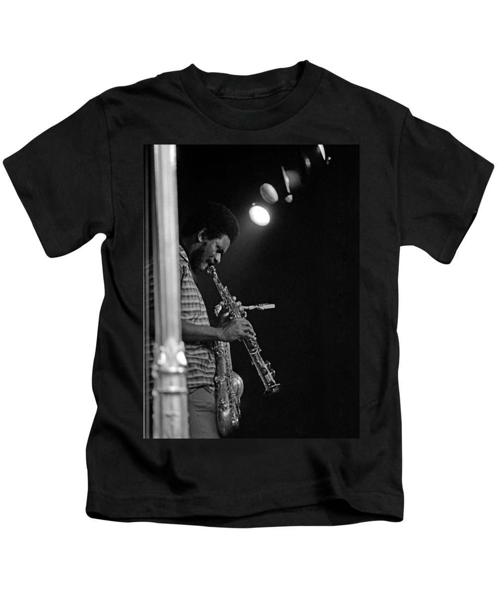 Pharoah Sanders Kids T-Shirt featuring the photograph Pharoah Sanders 1 by Lee Santa