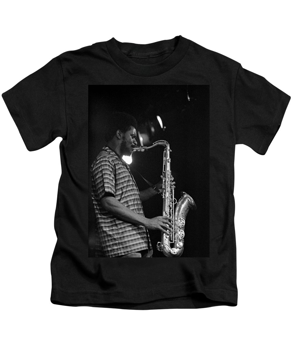 Pharoah Sanders Kids T-Shirt featuring the photograph Pharoah Sanders 2 by Lee Santa