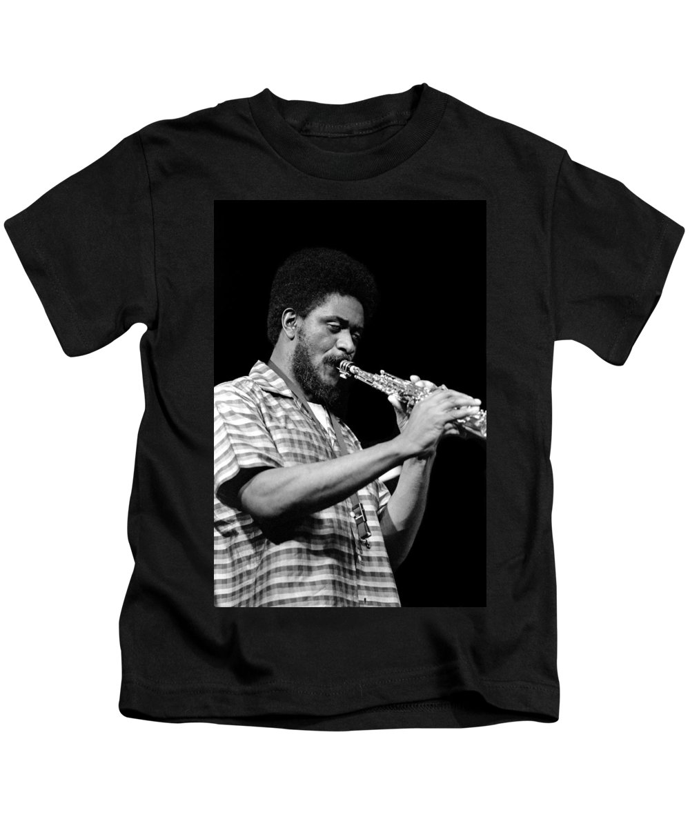 Pharoah Sanders Kids T-Shirt featuring the photograph Pharoah Sanders 3 by Lee Santa