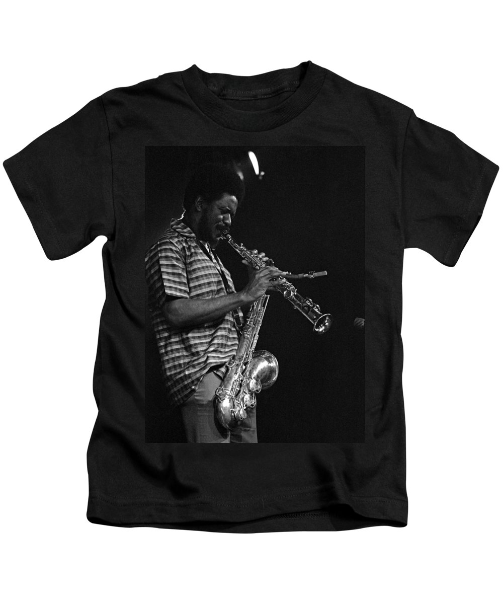 Pharoah Sanders Kids T-Shirt featuring the photograph Pharoah Sanders 4 by Lee Santa