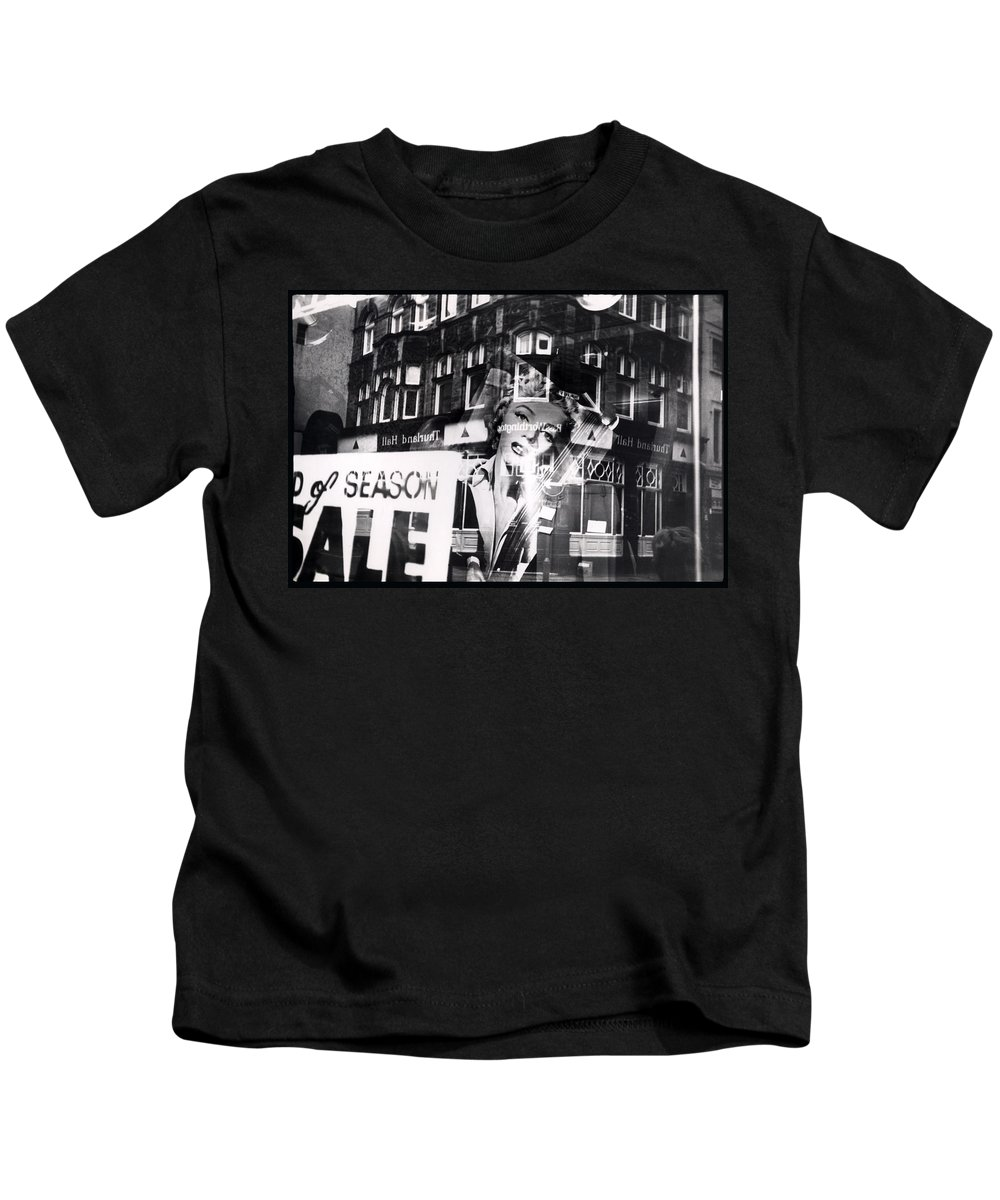 Marilyn Kids T-Shirt featuring the photograph Photograph Of Marilyn by Charles Stuart