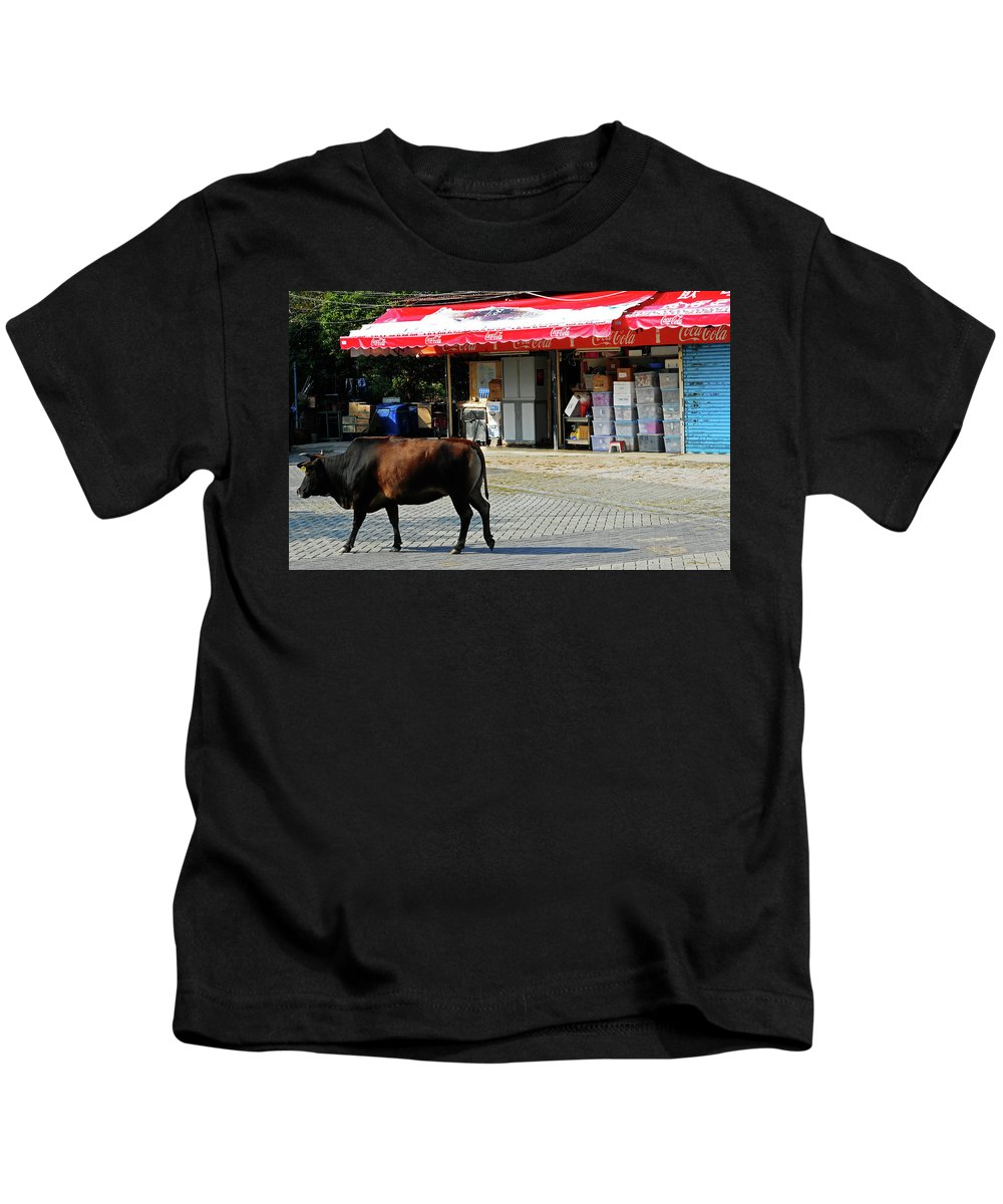 Phu My Kids T-Shirt featuring the photograph Phu My 2 by Ron Kandt