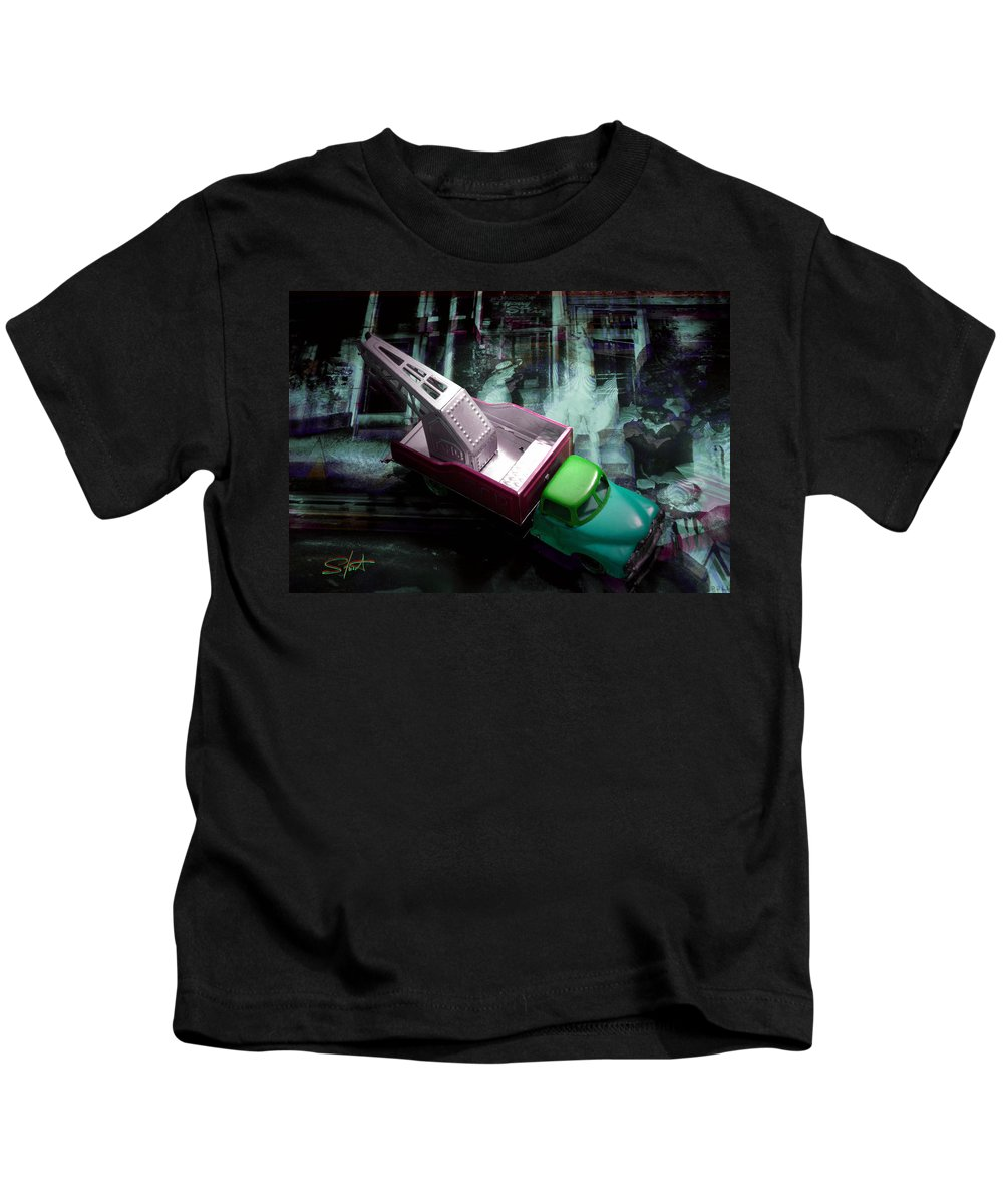 Marilyn Kids T-Shirt featuring the photograph Pick Up On Marilyn by Charles Stuart