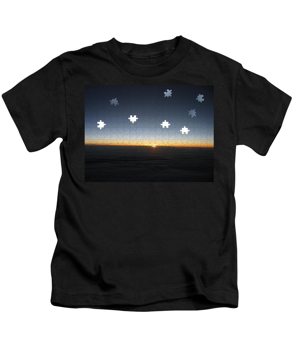Sunrise Kids T-Shirt featuring the photograph Piecing Together A New Day by Tim Allen