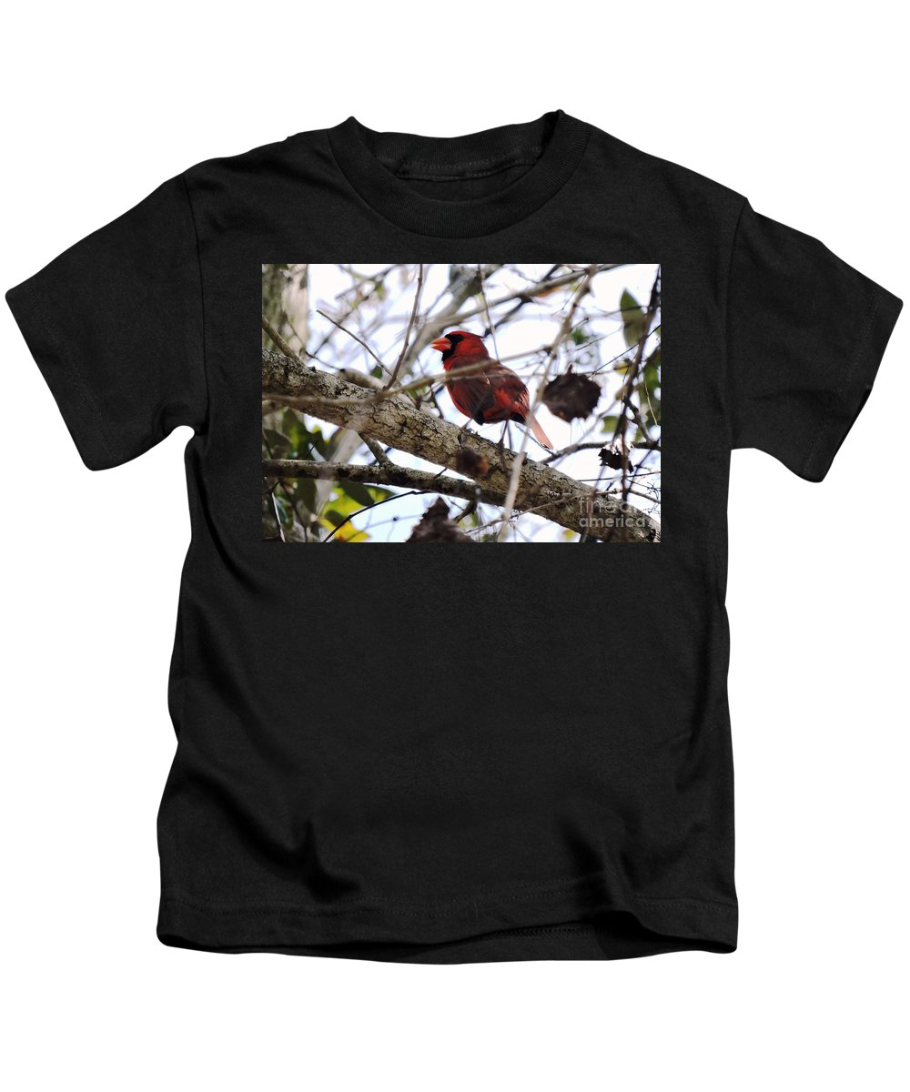 Bird Kids T-Shirt featuring the photograph Piercingly Sweet by Beth Williams