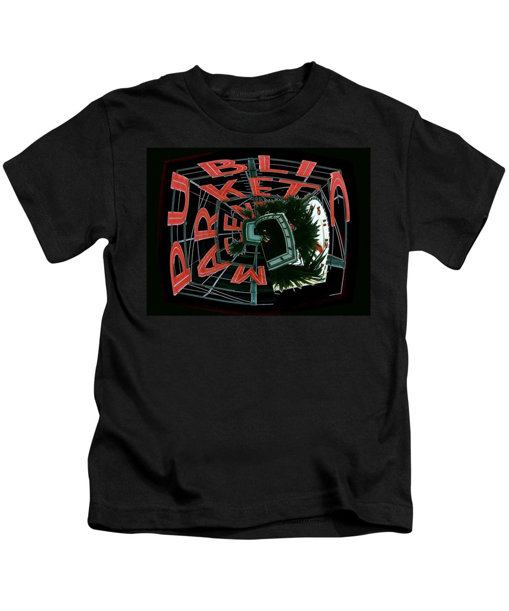 Seattle Kids T-Shirt featuring the digital art Pike Place Market Entrance 3 by Tim Allen