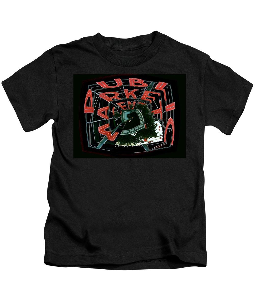 Seattle Kids T-Shirt featuring the digital art Pike Place Market Entrance 4 by Tim Allen