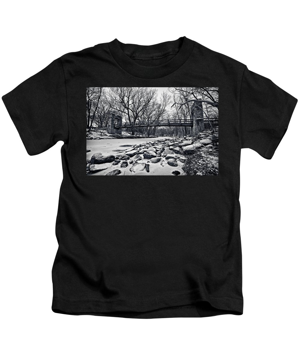 Canon Ef 17-40mm F/4.0 L Usm Kids T-Shirt featuring the photograph Pillars On The Shore by CJ Schmit