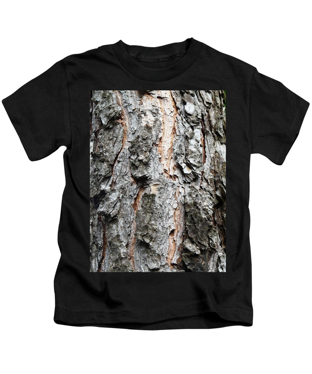Pine Kids T-Shirt featuring the photograph Pine Bark by Valerie Ornstein