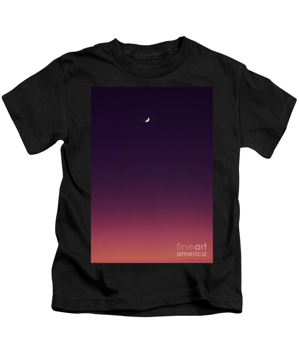 Above Kids T-Shirt featuring the photograph Pink And Purple Sunset by Carl Shaneff - Printscapes