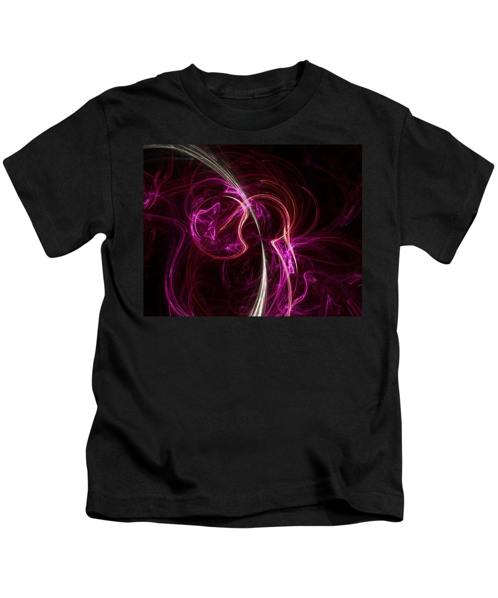 Fractal Kids T-Shirt featuring the digital art Pink Blume by Susan Kinney