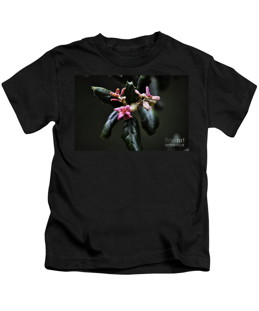 Clay Kids T-Shirt featuring the photograph Pink Bud by Clayton Bruster