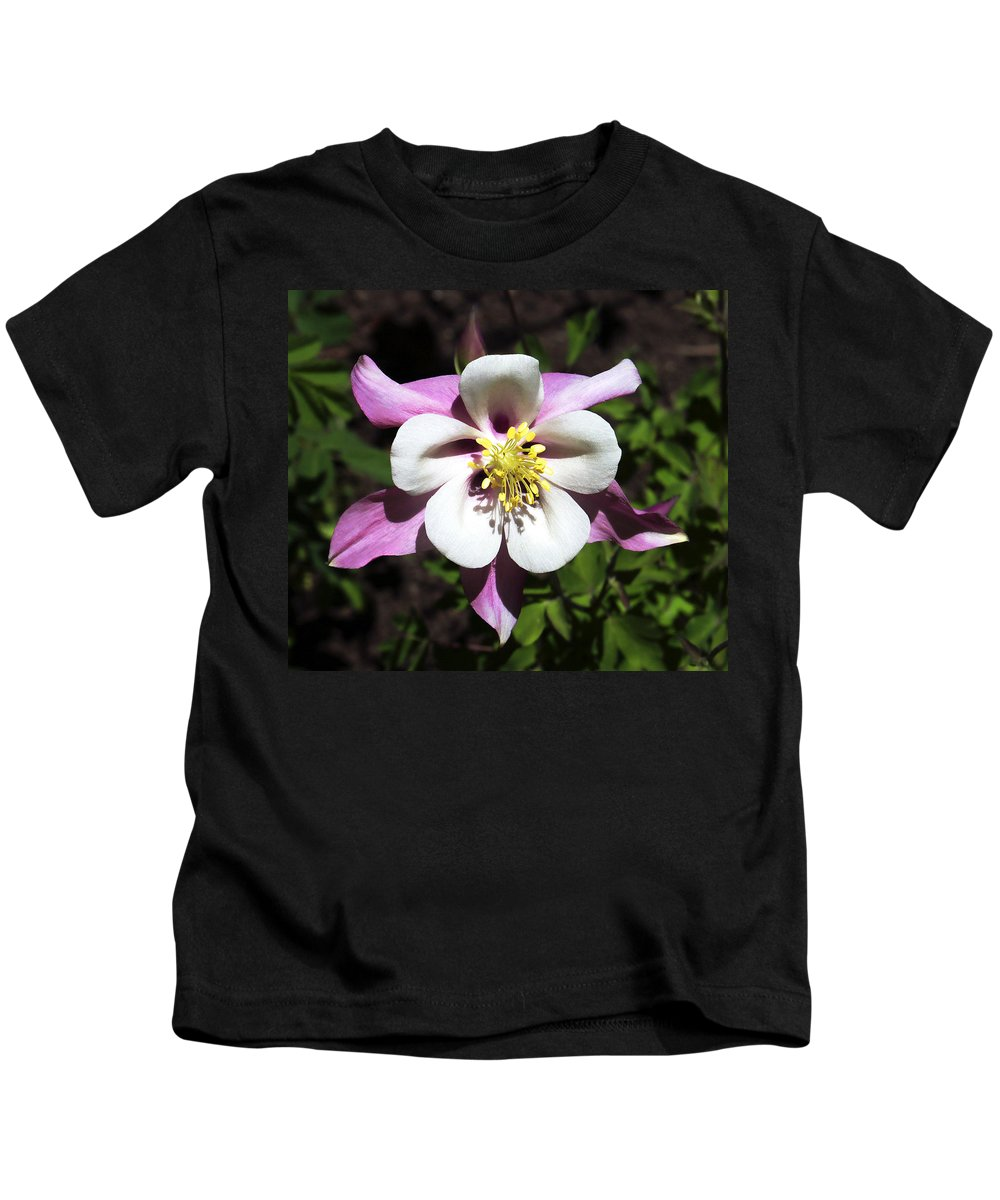Columbine Kids T-Shirt featuring the photograph Pink Columbine by Marilyn Hunt