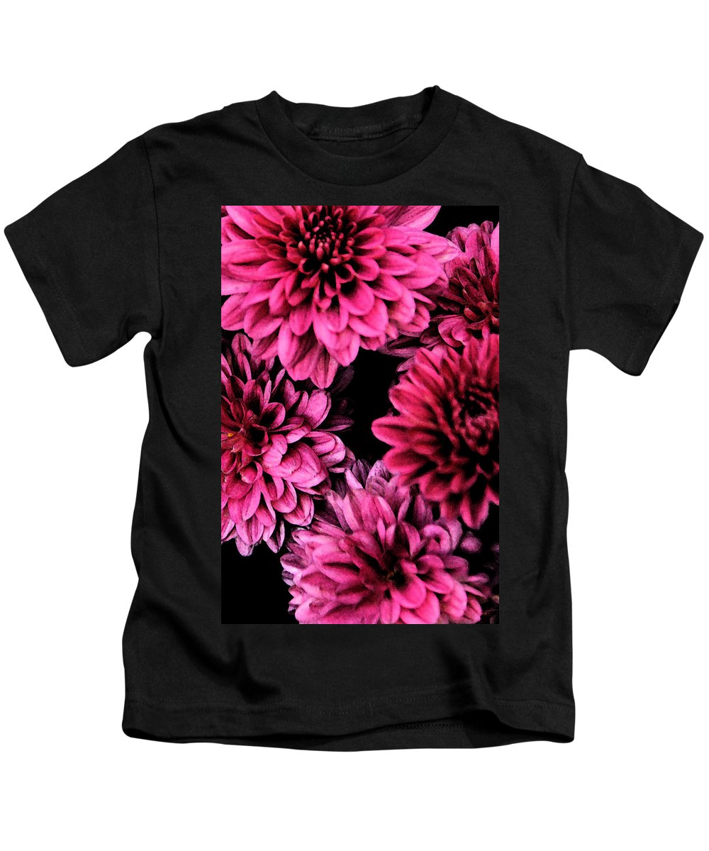 Flowers Kids T-Shirt featuring the photograph Pink Flowers by Carol Eliassen