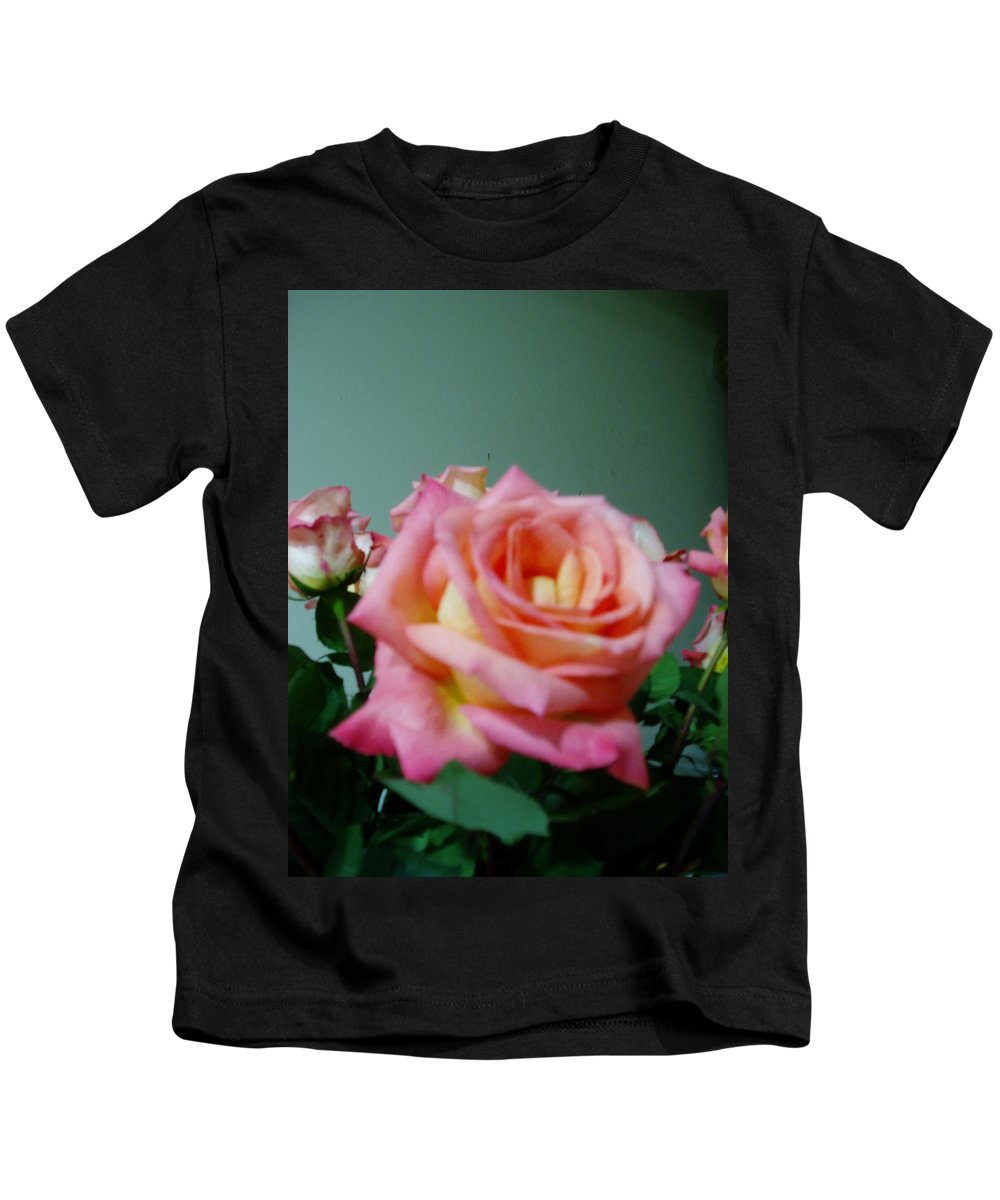 Flower Kids T-Shirt featuring the photograph Pink Rose by Carol Faga