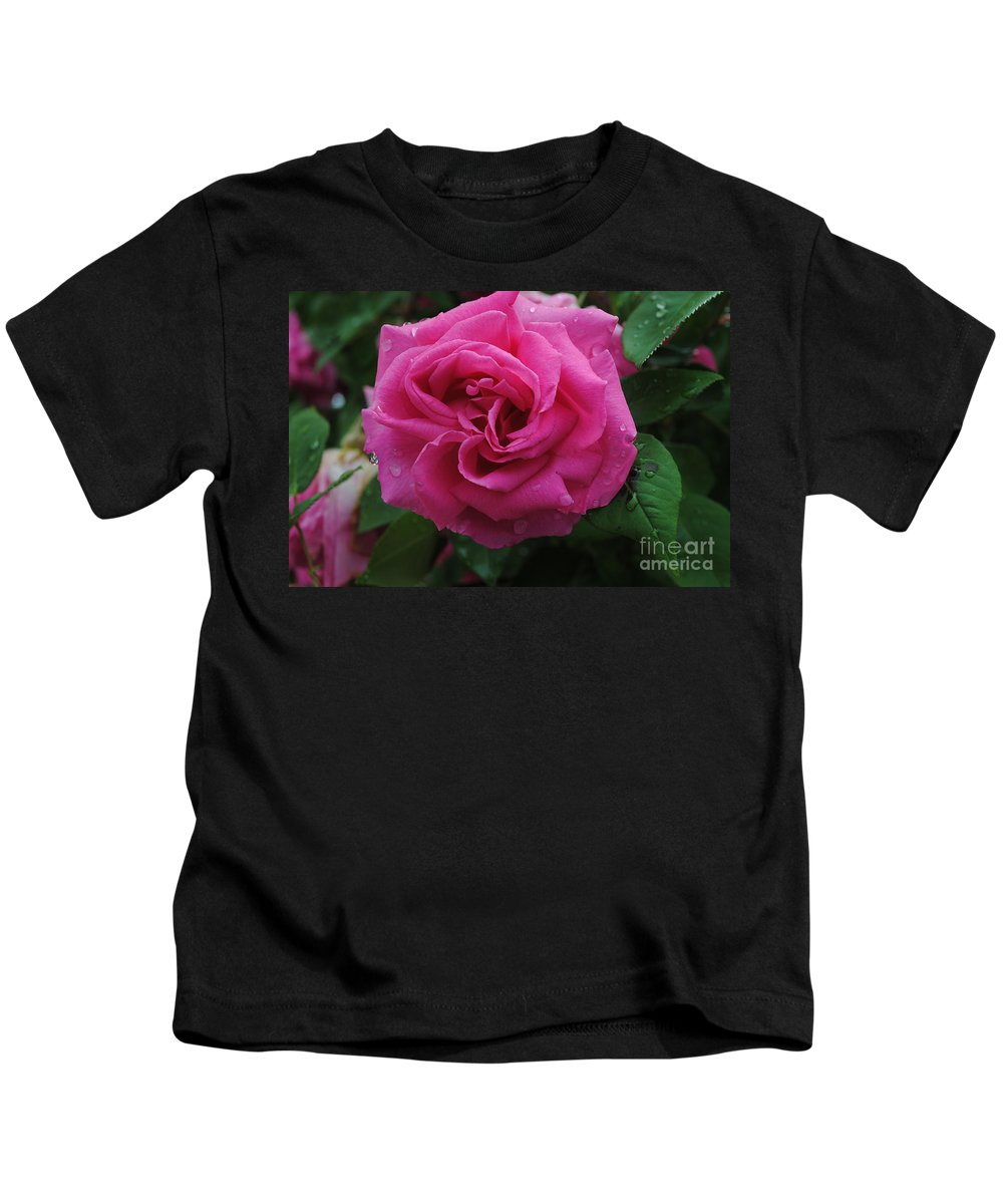 Pink Kids T-Shirt featuring the photograph Pink Rose by Jost Houk