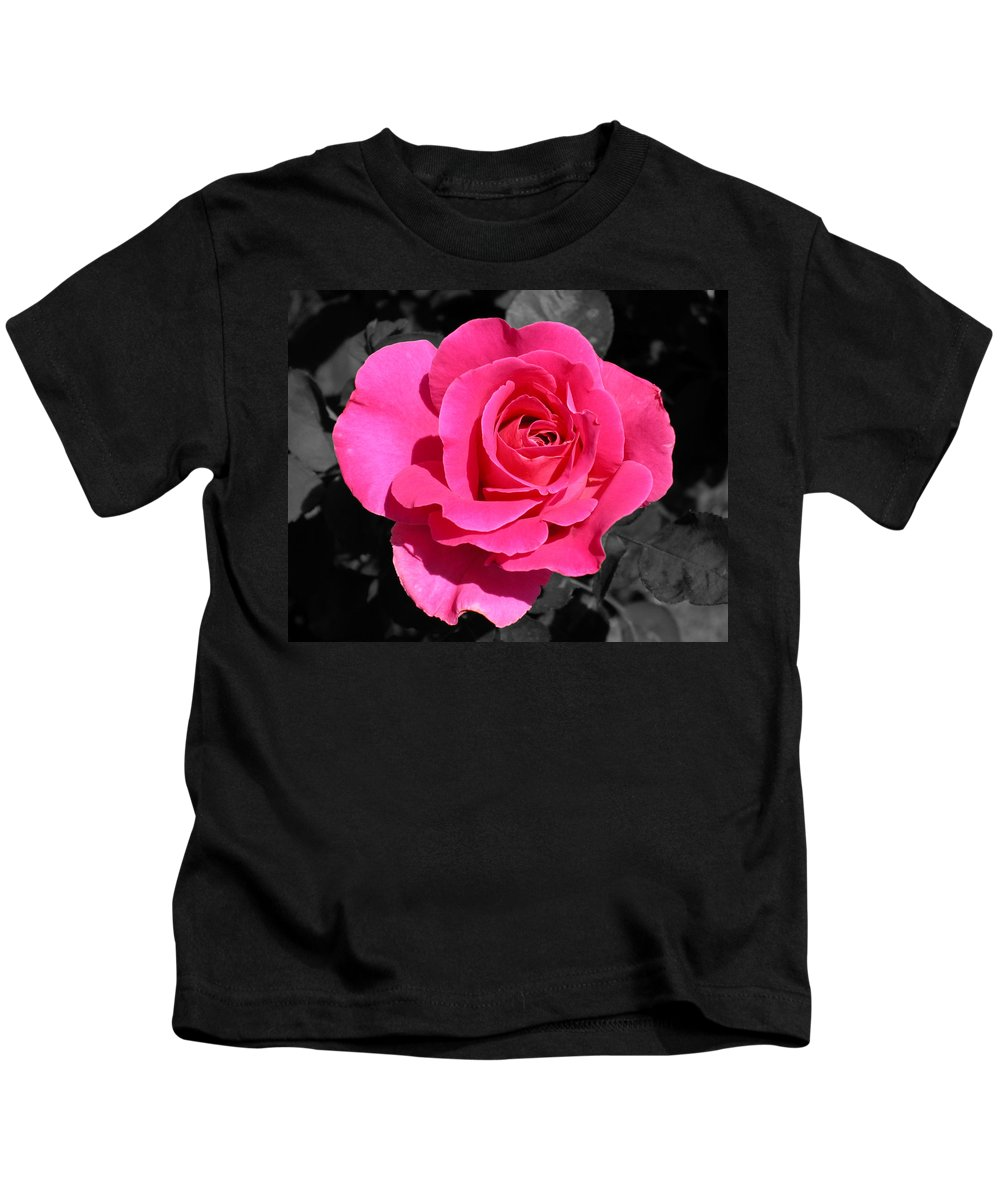 Pink Kids T-Shirt featuring the photograph Perfect Pink Rose by Michael Bessler