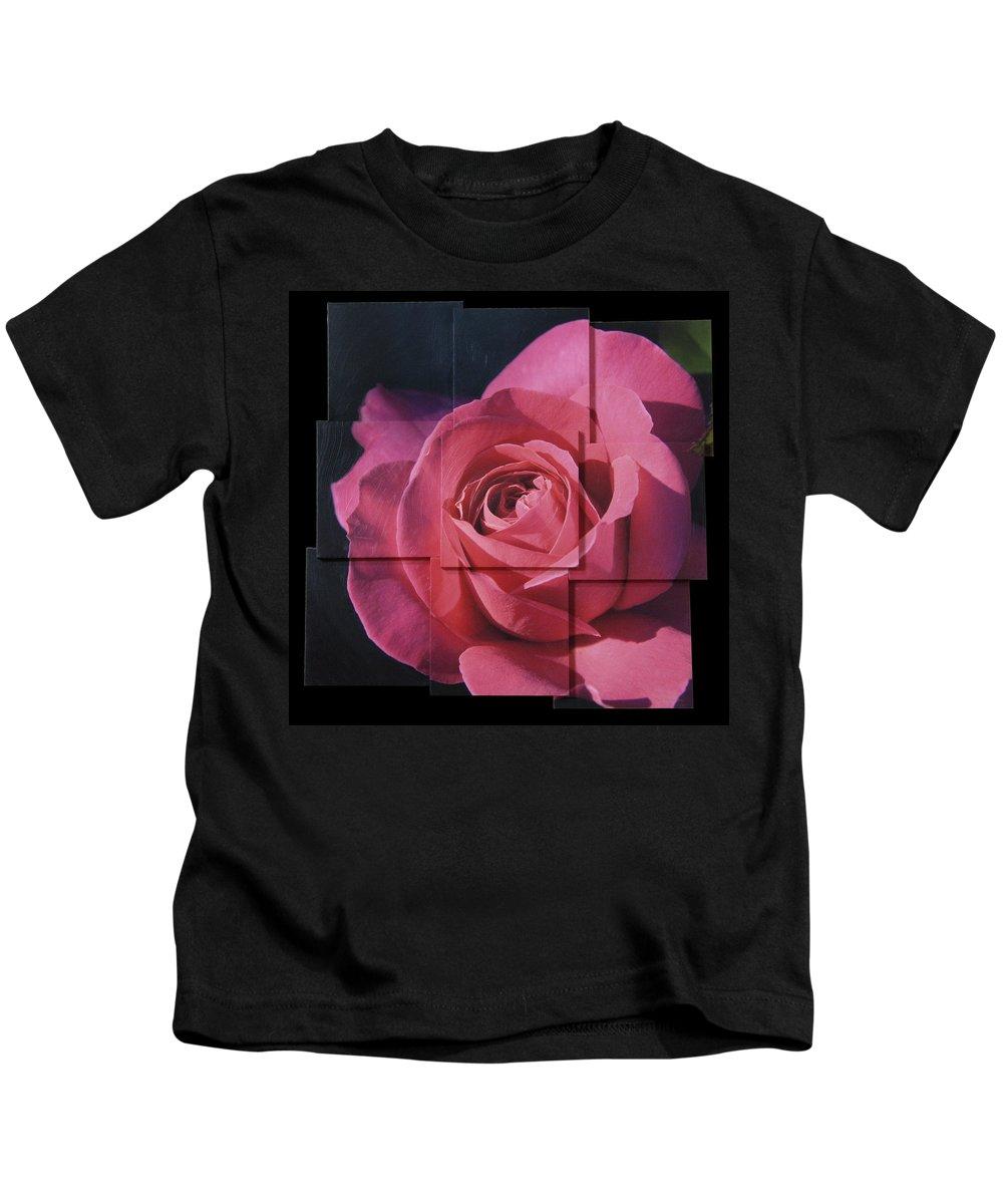 Rose Kids T-Shirt featuring the sculpture Pink Rose Photo Sculpture by Michael Bessler