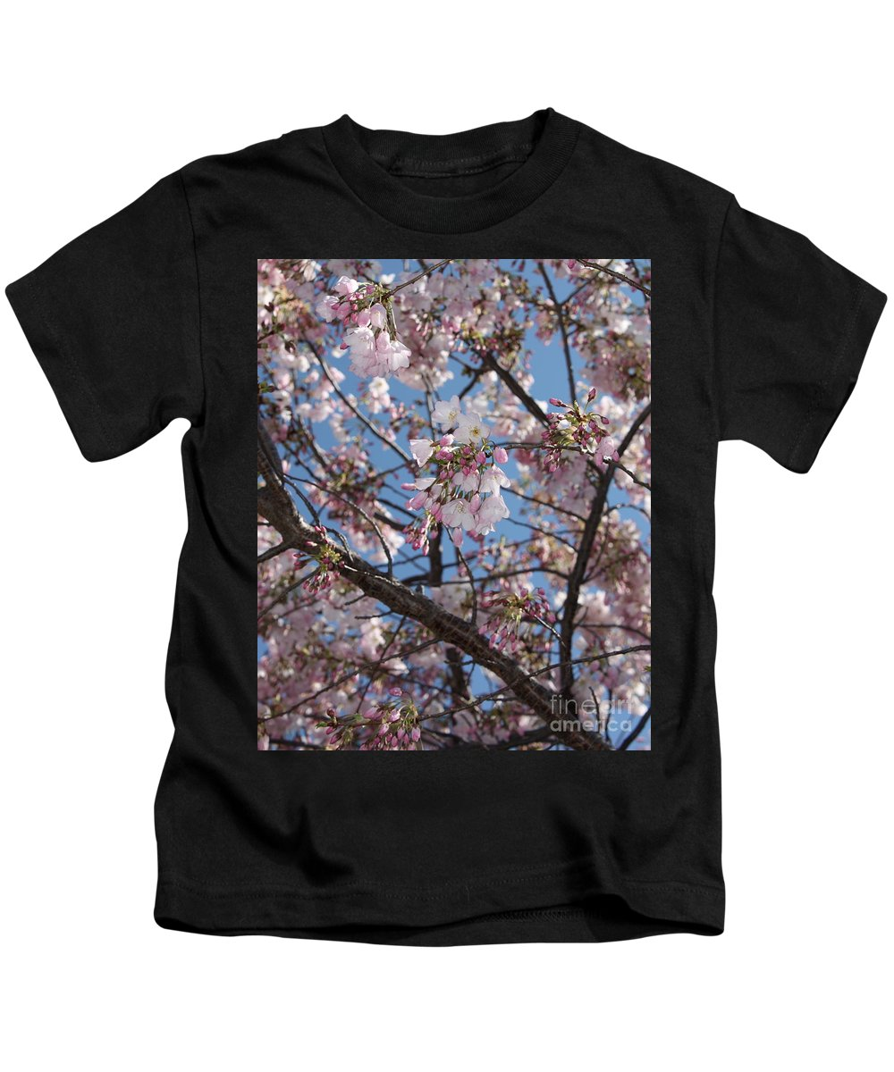 Spring Kids T-Shirt featuring the photograph Pink Spring Blossoms by Carol Groenen