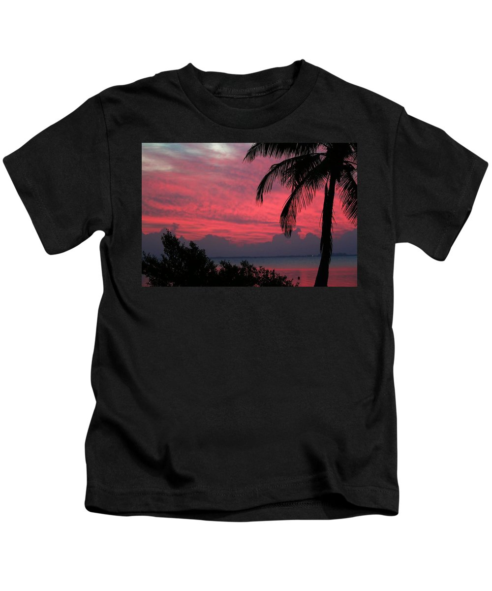 Sunrise Kids T-Shirt featuring the photograph Pink Sunrise by Kelly Foreman