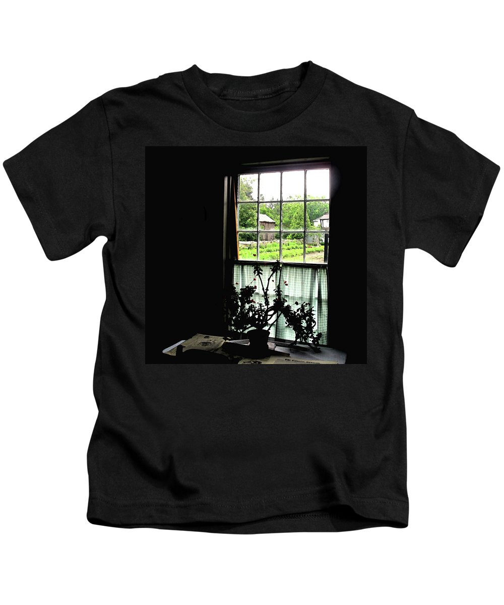 Old Kids T-Shirt featuring the photograph Pioneer Window by Ian MacDonald