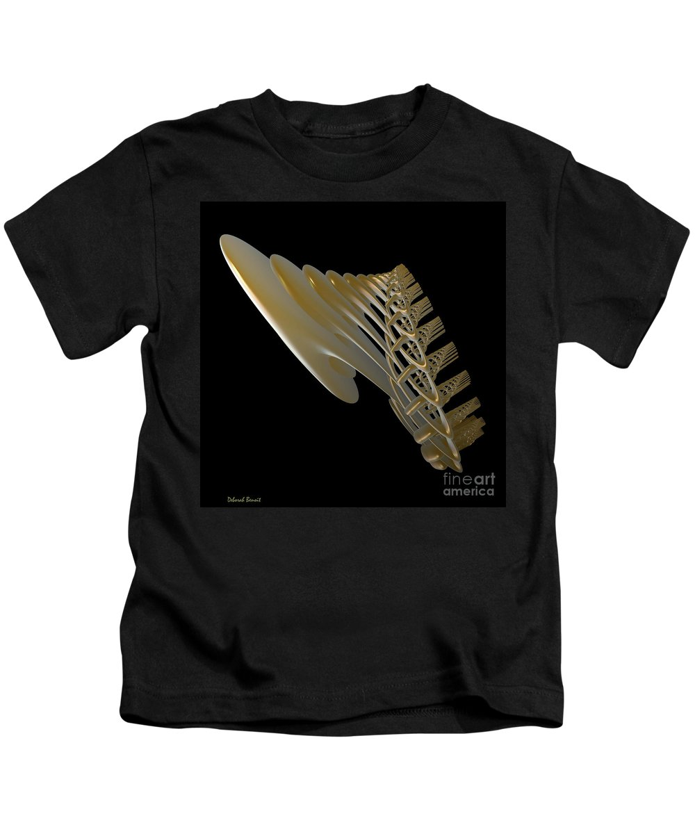 Incendia Kids T-Shirt featuring the digital art Pipe Cathedral by Deborah Benoit