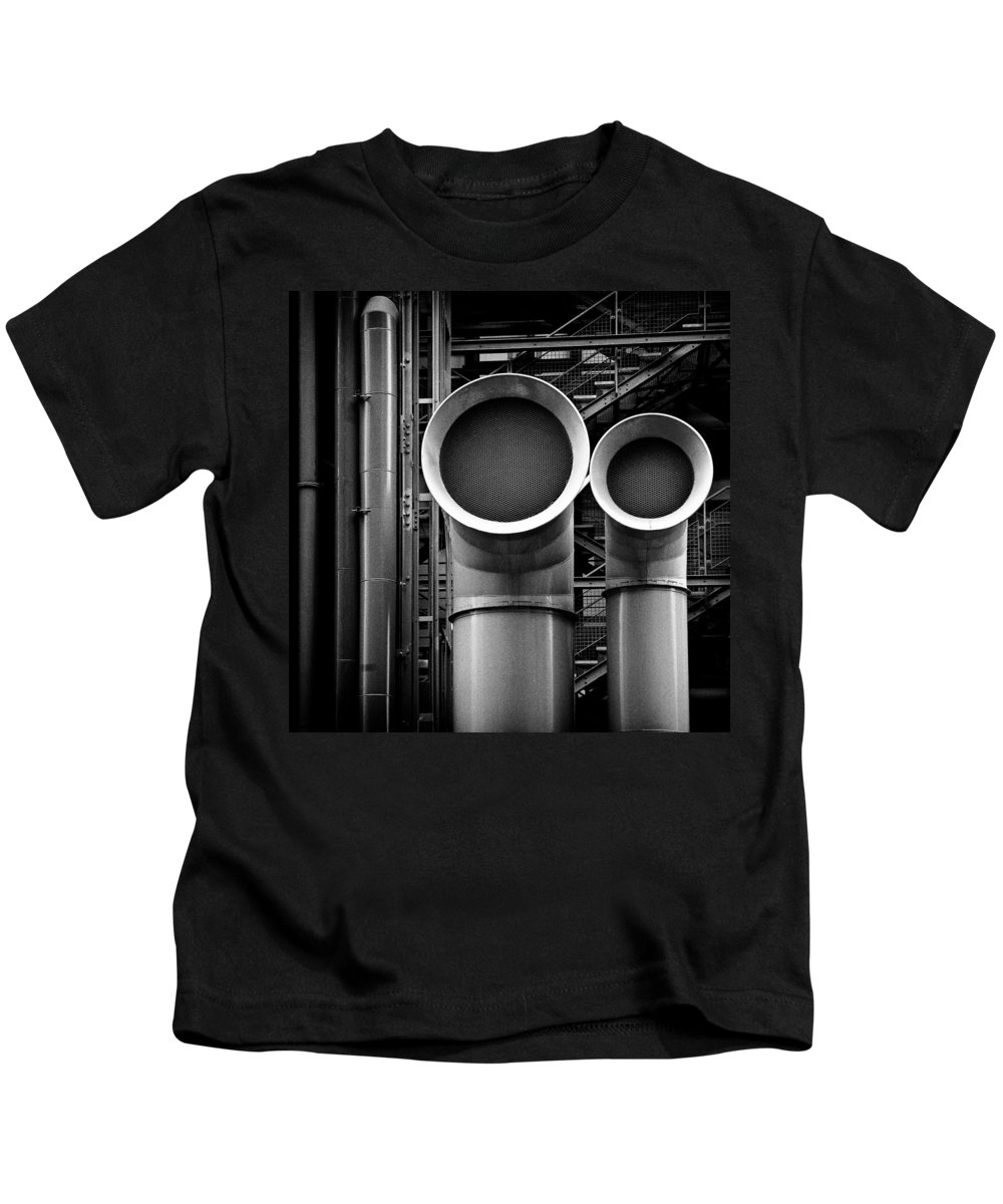 Industry Kids T-Shirt featuring the photograph Pipes by Dave Bowman
